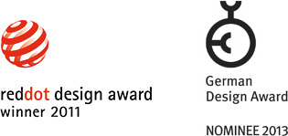 RedDot Design Award Winner 2011 / German Design Award Nominee 2013