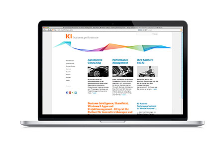 KI Business Performance: Corporate Design und Website